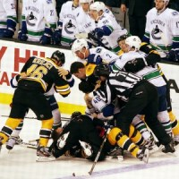 Concerns over head injuries may gradually eliminate fighting from hockey. (photo courtesy SlidingSideways/Flickr CC)