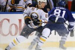 Sabres' defenseman Brayden McNabb and Leafs' forward Phil Kessel. How would another southern Ontario team affect the Sabres/Leafs rivalry?   (Timothy T. Ludwig/US PRESSWIRE)
