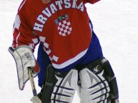 Ćurković played in his third World Under-18 tournament in 2010 in Narva, Estonia, and he helped Croatia win a bronze medal.  His 2.44 goals-against average and .916% save percentage in five games earned him top goaltender honours.  (fact.ee/Facebook)