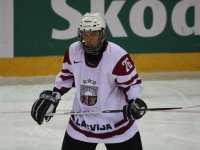 Emīls Potāpovs has become one of the best 1994-born players in Latvia over the years.  He had humble beginnings in hockey, having to wait until the age of nine for a rink in his hometown of Ogre.  As years passed, Potāpovs honed his talents and he even got the opportunity to play with some great individuals along the way, including Zemgus Girgensons.  (Photo: Erlends Eisaks)