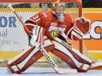Binnington was a standout with OHL Owen Sound from 2009-10 to 2012-13 (Terry Wilson/OHL Images)