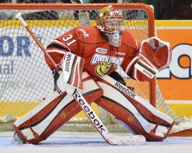 Jordan Binnington (Terry Wilson/OHL Images)