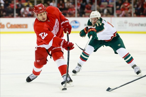 Jordin Tootoo was playing with the Grand Rapids Griffins this pat week and had two goals in a victory on Wednesday. (Rick Osentoski-USA TODAY Sports)