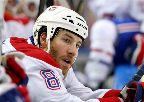 Brandon Prust a member of the Canadiens roster