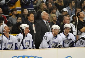 Wayne Fleming behind the bench of the Tampa Bay Lightning. (Jayne Kamin-Oncea-USA TODAY Sports)