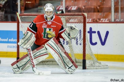 Zach Fucale is the top ranked goaltender for the NHL Entry Draft  [photo: David Chan]
