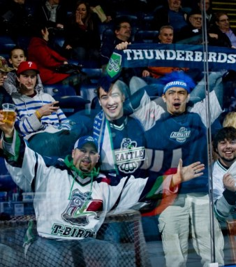 Fans of the Seattle Thunderbirds. (Shoot the Breeze Photography)
