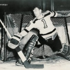 Hockey Hall of Famer and Boston Bruins Frank Brimsek.