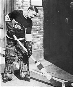 Georges Vezina with claymore sized stick