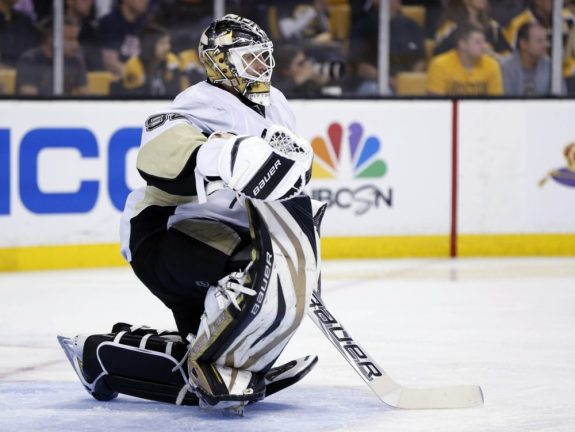 Tomas Vokoun will be out indefinitely, leaving the Penguins roster in a bind (Greg M. Cooper-USA TODAY Sports)