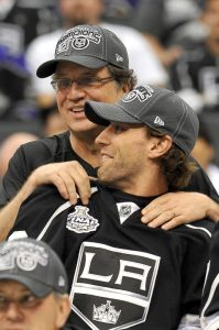 Dean Lombardi & Jarret Stoll (Jayne Kamin-Oncea-USA TODAY Sports)
