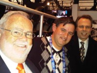 Eric Hornick (Center) has done tremendous work over the decades as a statistician for MSG Networks and the New York Islanders. (Photo Credit - Eric Hornick)