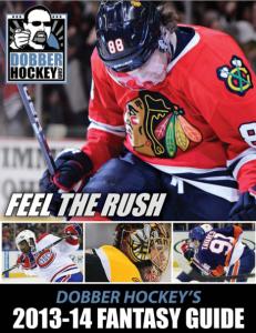 Dobber Hockey 2013-14 Draft Guide