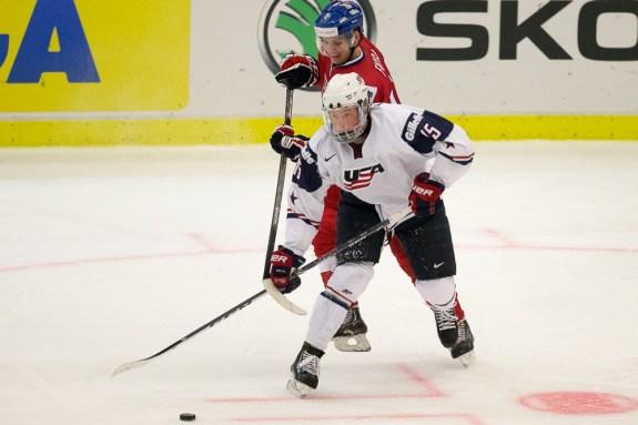 Jack Eichel of Team USA - 2014 World Juniors (WJHC)