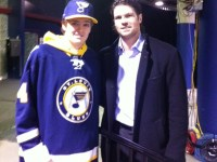 Draven & Jason Arnott after a game at Rexall Place in Edmonton (Photo courtesy of Draven Arnott)