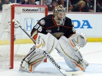 John Gibson and Frederik Andersen might be unproven as an NHL goalie tandem, but they will have to be on top of their game in order for the Ducks to remain competitive in the Western Conference. (Kirby Lee-USA TODAY Sports)