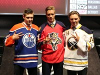 Leon Draisaitl, Aaron Ekblad, Sam Reinhart (Bill Streicher-USA TODAY Sports)