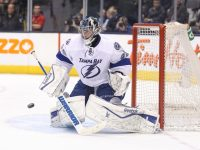 Ben Bishop sits near the top in Tampa Bay goaltending statistics.  (Tom Szczerbowski-USA TODAY Sports)