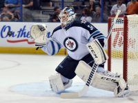 Michael Hutchison has challenged Ondrej Pavelec so far this season, and he hasn't been showing any signs of letting up. (Chris LaFrance-USA TODAY Sports)