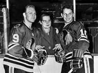 Bobby Hull, younger brother Dennis and their mom at training camp in St. Catharines