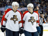 Aleksander Barkov and Jussi Jokinen (Kim Klement-USA TODAY Sports)