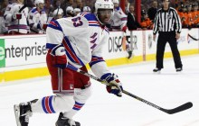 Duclair skated in 18 games with the Rangers this season (Amy Irvin / The Hockey Writers)