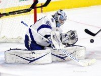 Andrei Vasilevskiy has shown managers why he was coveted by Tampa Bay during the first round of the 2012 NHL Entry Draft. (Amy Irvin / The Hockey Writers)