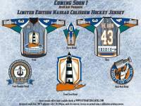 Designed by Branden Otto, his new jersey design pays tribute to the Nassau Coliseum. (Branden Otto/OttoArt)