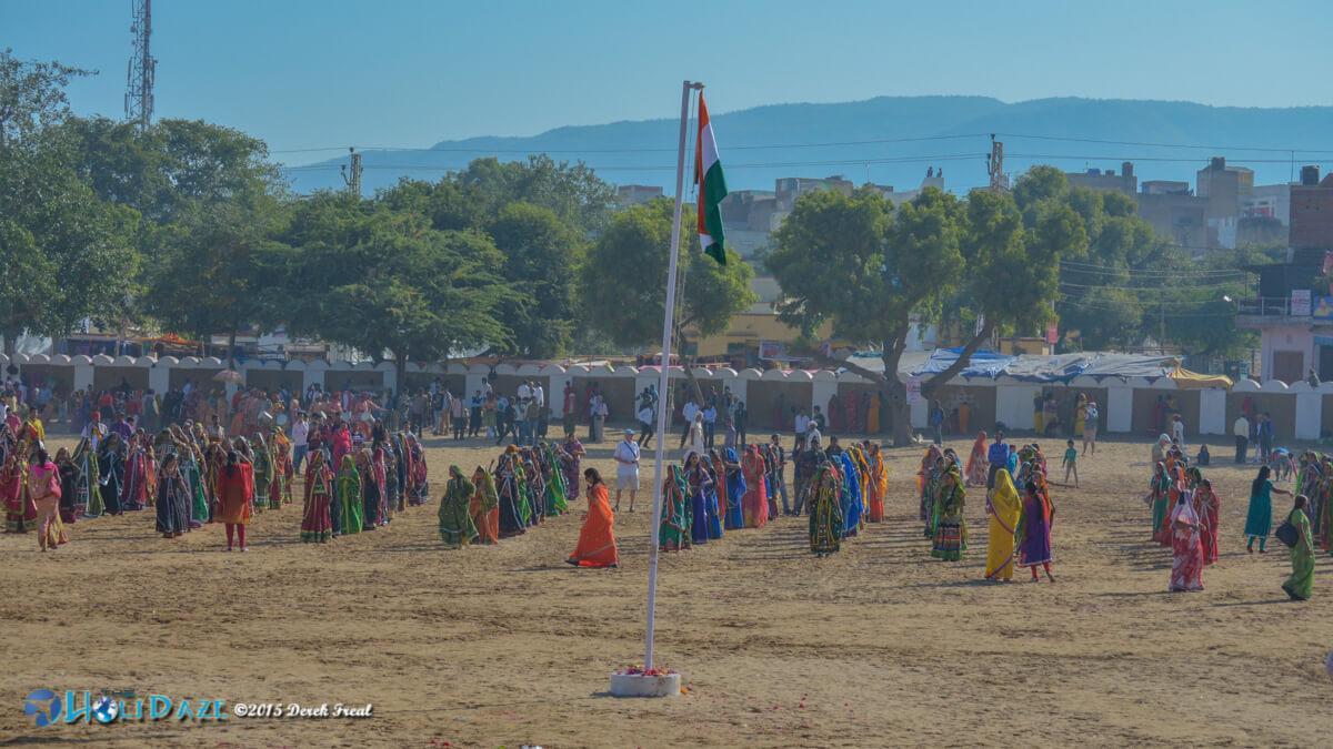 Opening ceremony of the Pushkar Camel Fair 2015