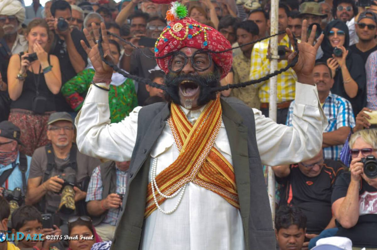 Mustache competition at the Pushkar Camel Fair 2015
