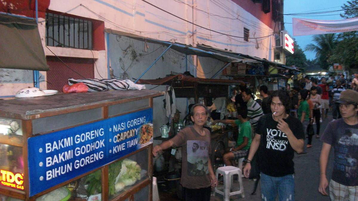 Indonesian street food alley