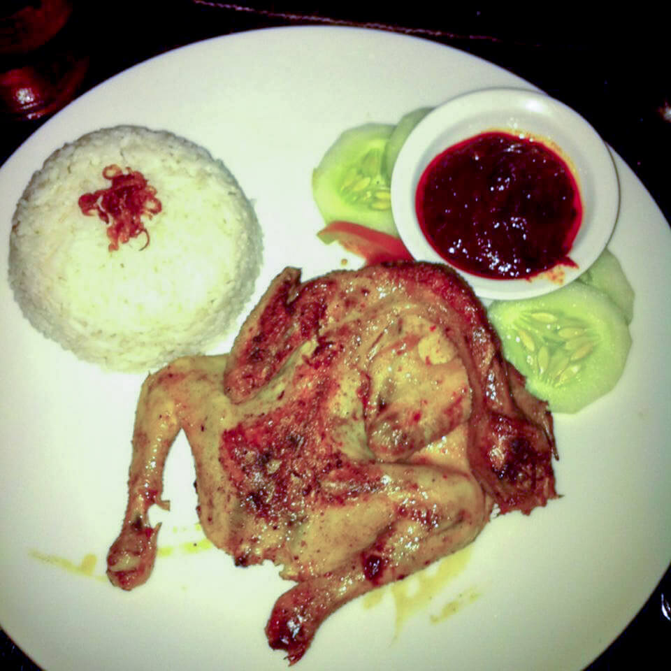 Indonesian Food Cheat Sheet: Nasi Taliwang in Sengigi, a delicious baby chicken served with rich and sambal