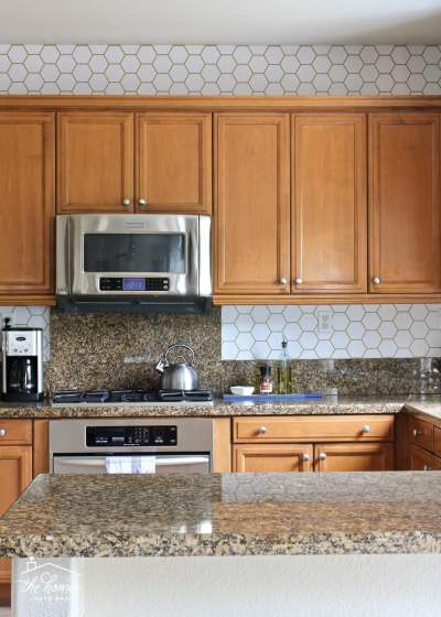 How to Wallpaper a Backsplash | The Homes I Have Made