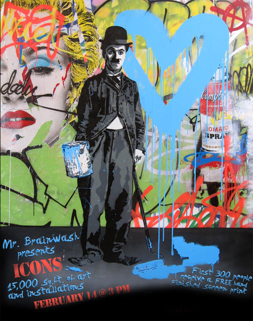 mr brainwash icons show big a brainwash for valentine's day?