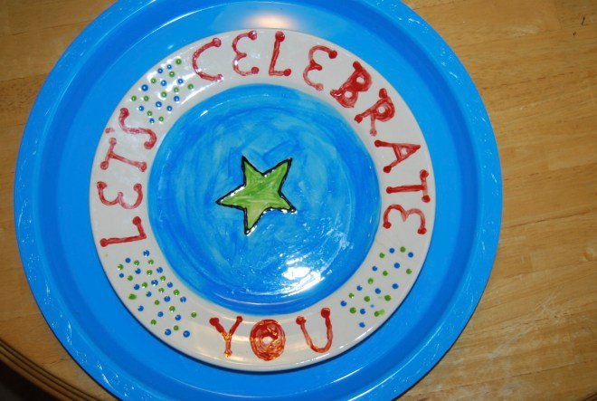 celebration plate -20 ways to fill your child's love tank on their birthday