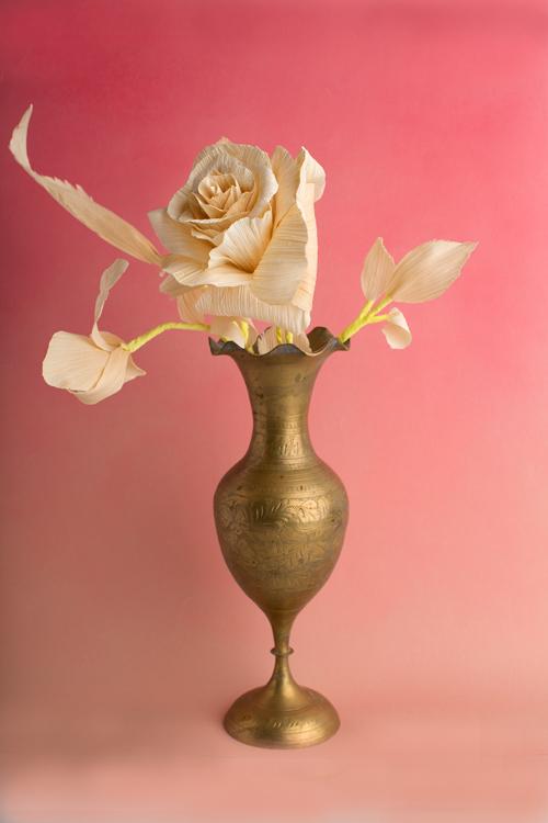 corn husk flower bouquet