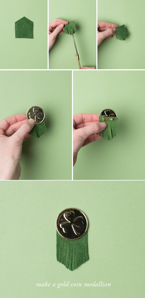 instructions on how to make gold coin medallion