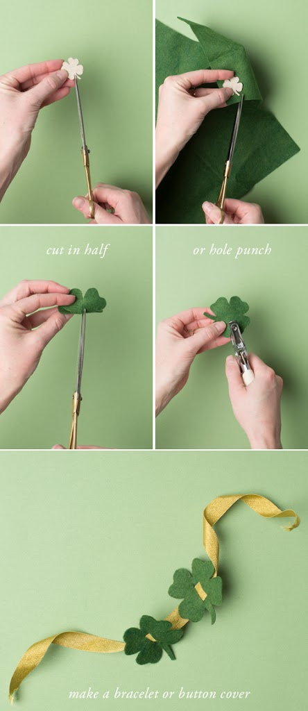 how to make shamrock button cover or shoe accessory