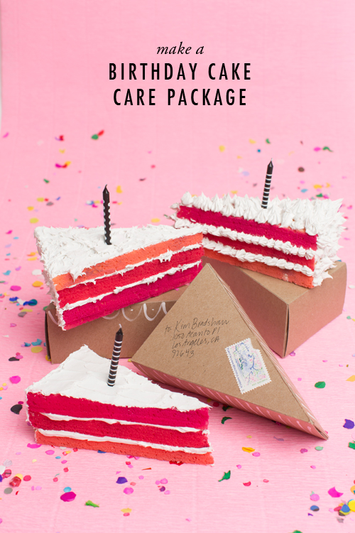Send a birthday cake care package in the mail
