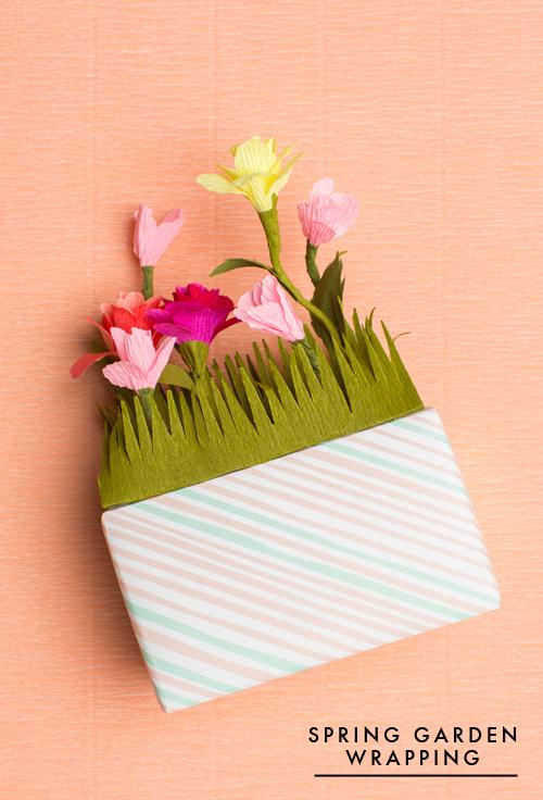 Flower garden spring gift wrapping