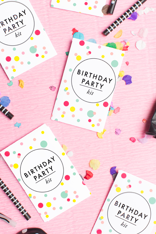 free printable birthday party kit