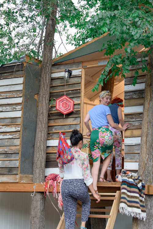 Go glamping in a treehouse!