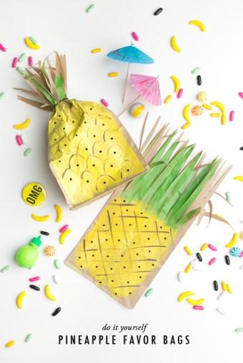 Pineapple paper bag