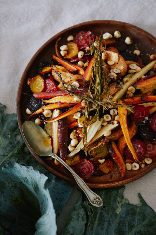 Root vegetables have never looked more beautiful than they do in this recipe from The House That Lars Built. This definitely would add an elegance to any Thanksgiving table! www.throughthepainteddoor.com
