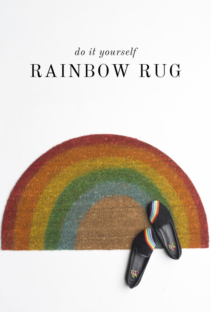 Diy Rainbow Welcome Mat