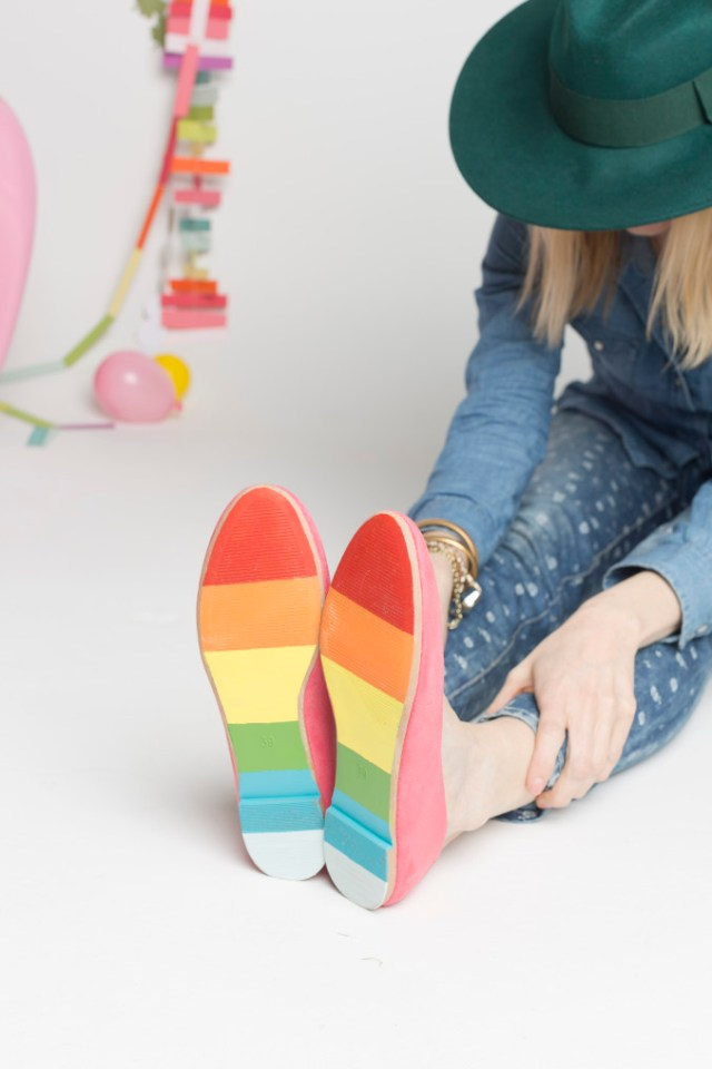DIY Rainbow St. Patrick's Day Shoes