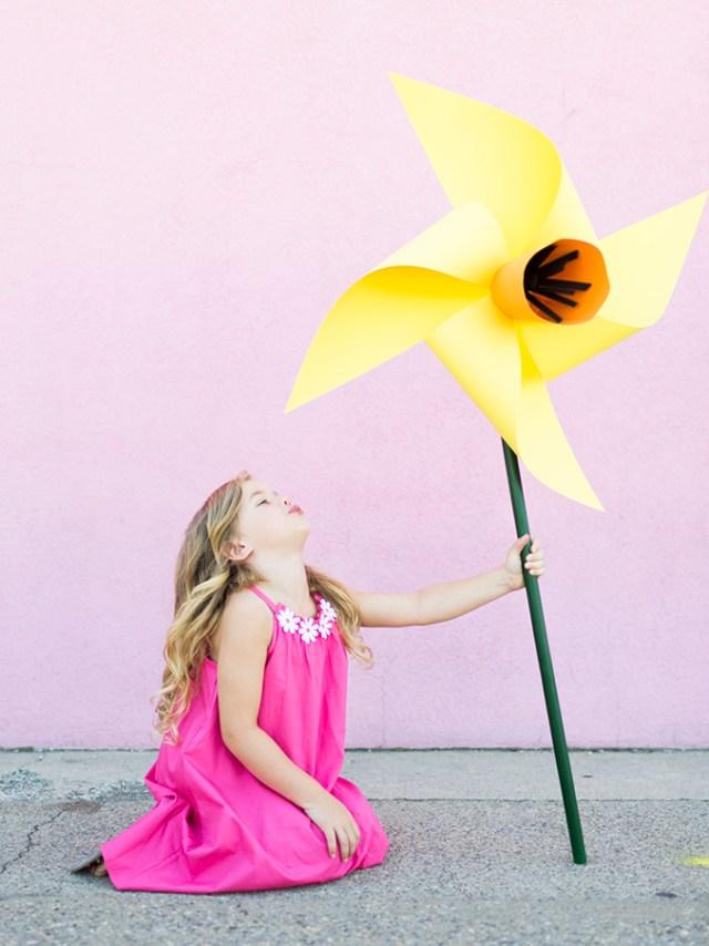 diy flower pinwheels