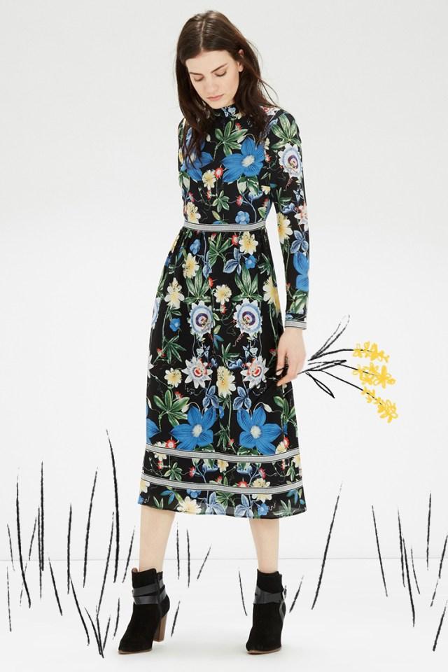 dutch baroque floral dress