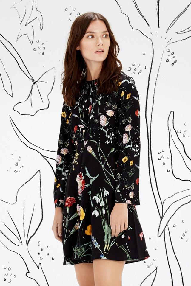 floral dress on black