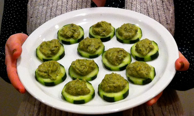 cucumber avocado tea sandwich bites